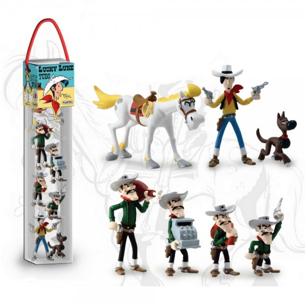 Lucky Luke - Tube (7 Figuren)