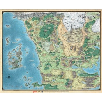 D&D Faerûn - Realm and Sword Coast Map