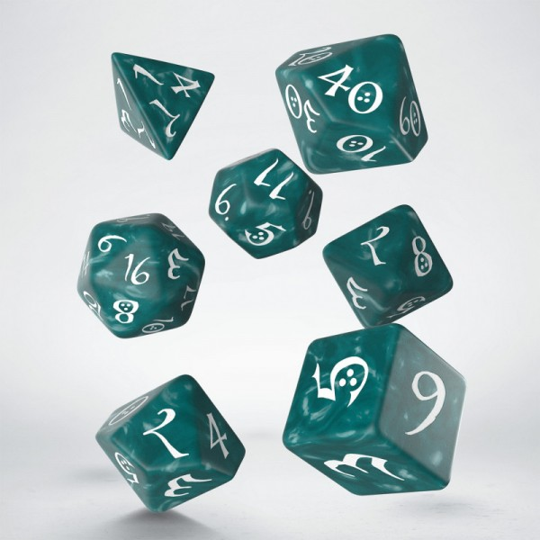 Classic RPG Dice Set Stormy/White (7)