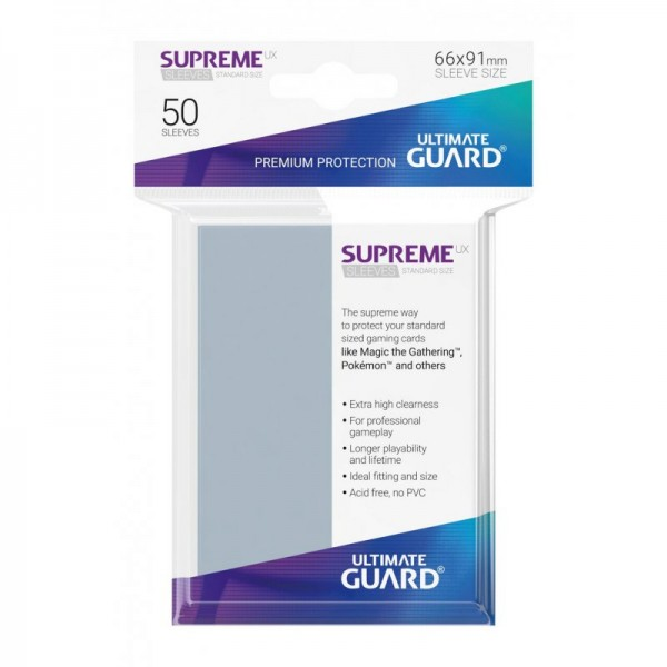 Supreme UX Sleeves Standard - Clear (50)