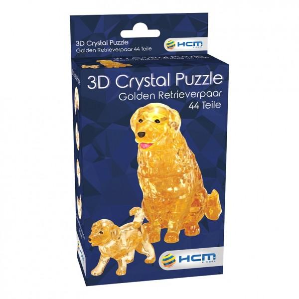Crystal Puzzle: Golden Retrieverpaar (44 Teile)