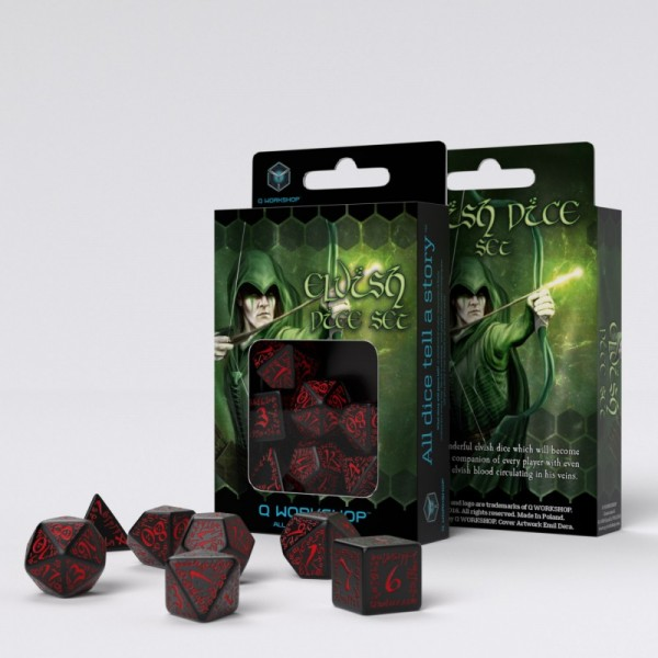 Elvish Dice Black/Red (7)