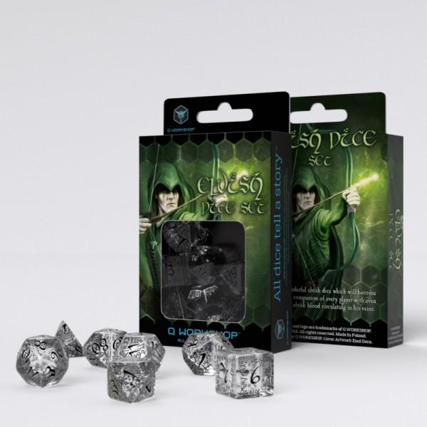 Elvish Dice Transp./Black (7)