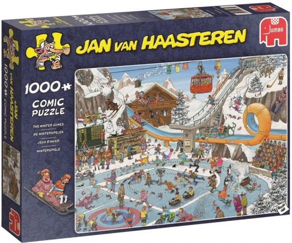 Puzzle: Die Winterspiele (van Haasteren) (1000 Teile)