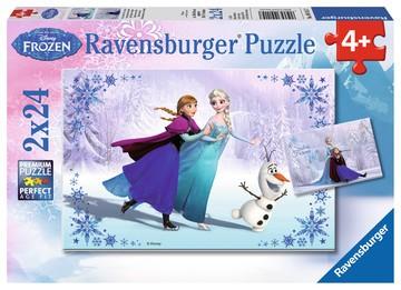 Puzzle: Frozen - Schwestern für immer (2x24 Teile)