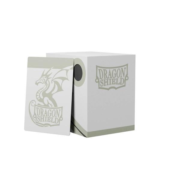 Dragon Shield: Double Deck Shell 150+: White/Black