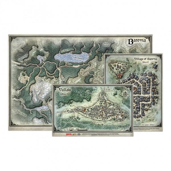 D&D: Curse of Strahd - Map Set ( 3 Stück)