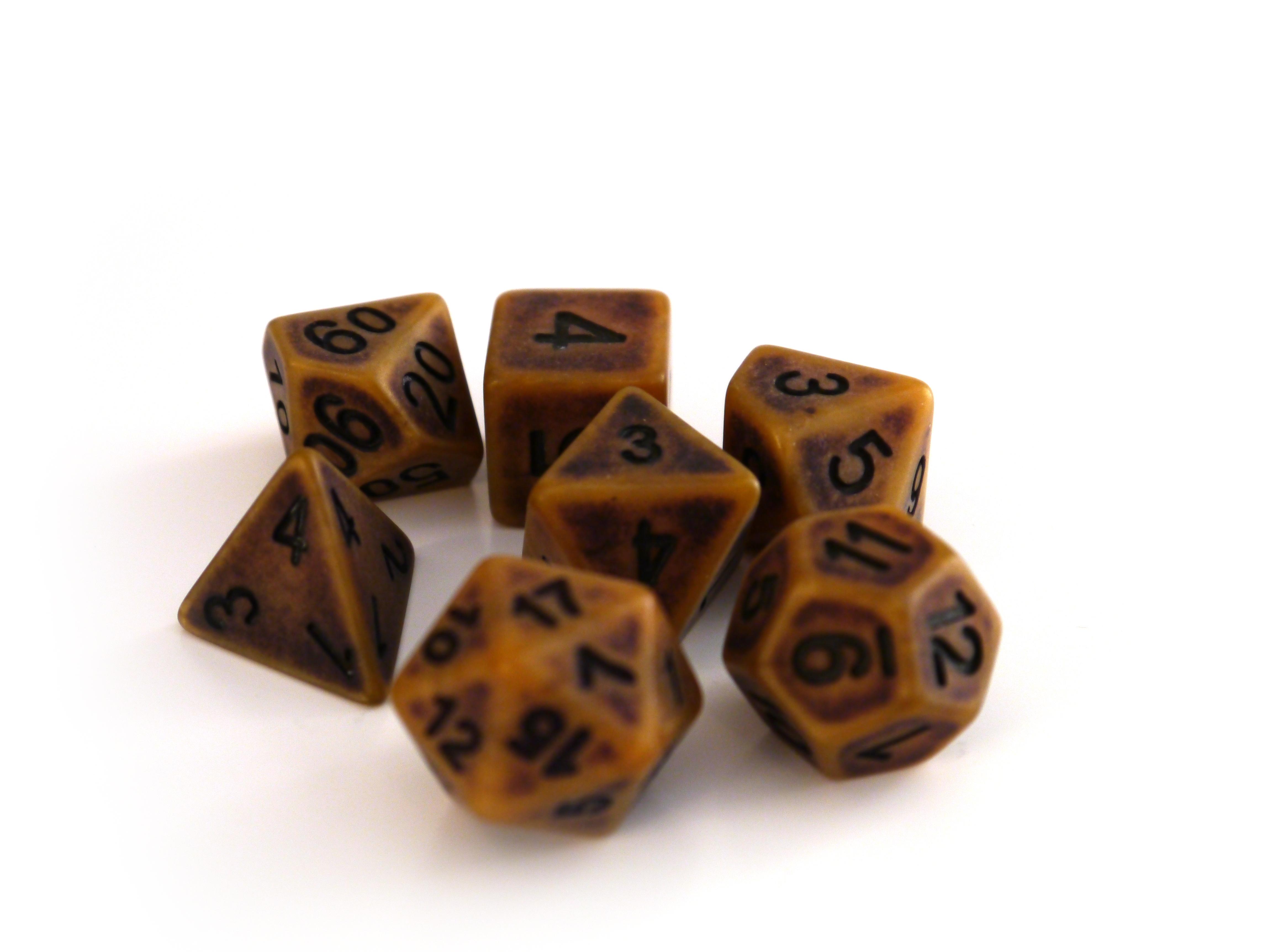 7 teiliges Würfelset D /& D D4 D6 D8 D10 D20 Würfelspiel Polyhedral Dice #