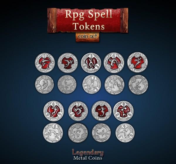 RPG Spell Tokens (22 Stück)