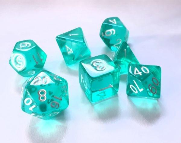Würfelset Transparent: Ice mint (7)