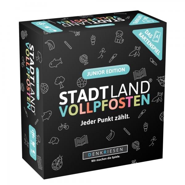 STADT LAND VOLLPFOSTEN: Das Kartenspiel – Junior Edition