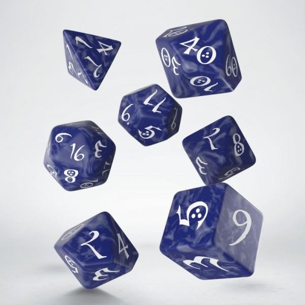 Classic RPG Dice Cobalt/White (7)
