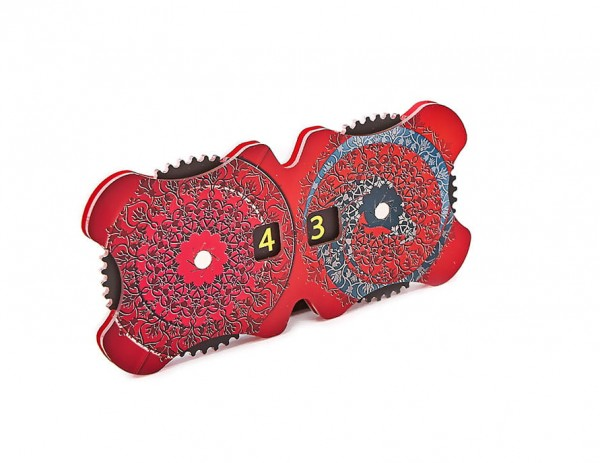 Double Dial Floral Red