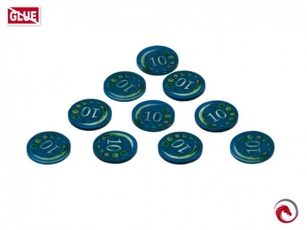 Token and Markers: Set of Money 10 (10 Stück)