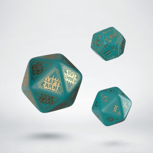 RuneQuest Turquoise/Gold Expansion Dice Set (3)