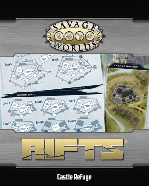 Rifts: Savage Map North America & Castle Refuge