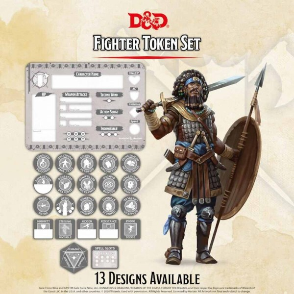 Dungeon & Dragons: Fighter Token Set