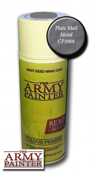 Army Painter Primer: Plate Mail Spray (400ml)