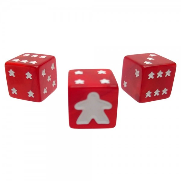 Meeple D6 Dice Set (Red)