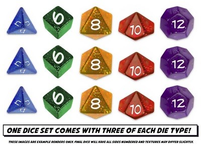Sentinels Comics: The Roleplaying Game Dice Set