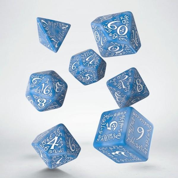 Elvish Dice Set Glacier & White (7)