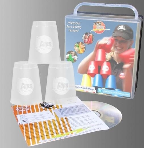Speed Stacking: FlashCups (12 Stk., frozen) mit Lunchbox+DVD