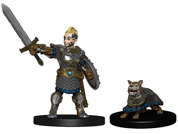 WizKids Wardlings Painted Miniatures: Boy Fighter & Battle Dog