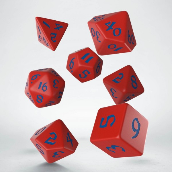 Classic Runic Red/Blue Dice Set (7)