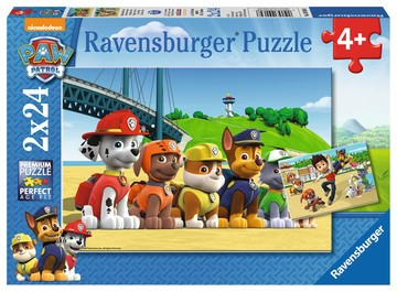 Puzzle: Paw Patrol - Heldenhafte Hunde (2x24 Teile)