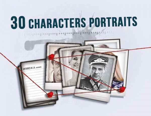 Detective: 30 Character Portraits - [Mini Expansion]