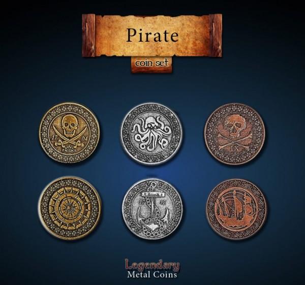 Pirate Coin Set (24 Stück)