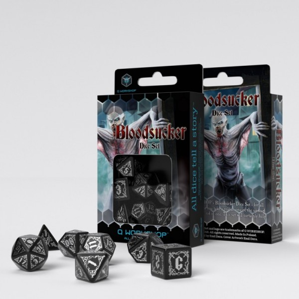 Bloodsucker Black & silver Dice Set (7)