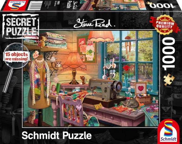 Puzzle: Im Nähzimmer - Secret Puzzle (1000 Teile)