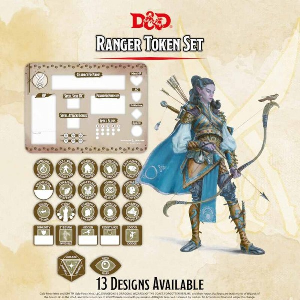 Dungeon & Dragons: Ranger Token Set