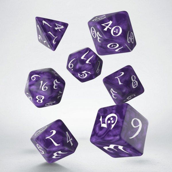 Classic RPG Dice Set Lavender/White (7)