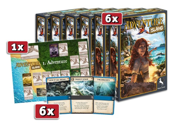 Adventure Island Launch Kit (6 games + 6 flow packs + poster)