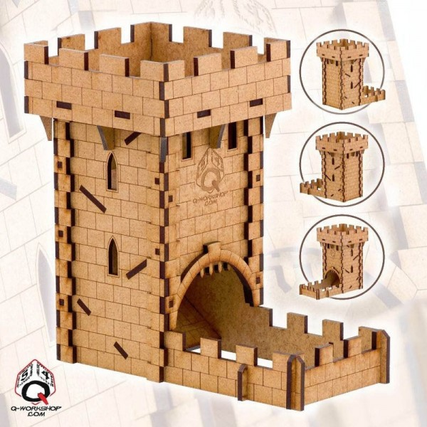 Dice Towers: Human/Medieval Dice Tower