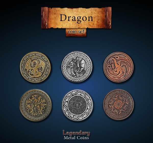 Dragon Coin Set (24 Stück)