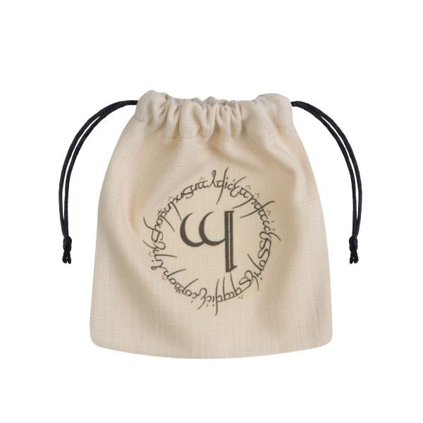 Elvish Beige & Black Dice Pouch