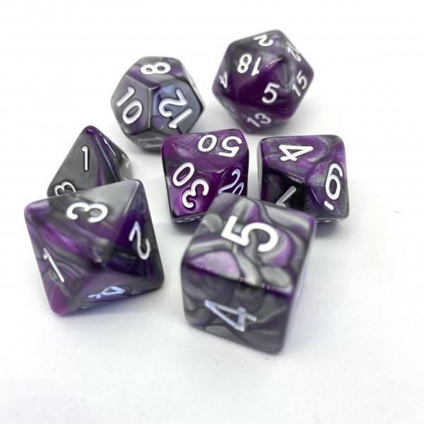 Würfelset Confetti: Racing Purple (7)
