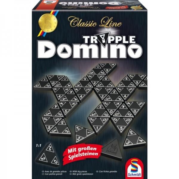 Classic Line: Tripple-Domino mit großen Spielsteinen