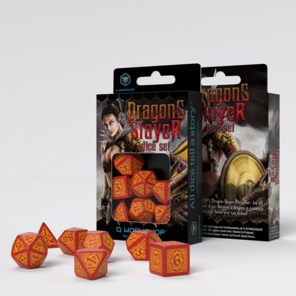 Dragon Slayer Red & orange Dice Set (7)