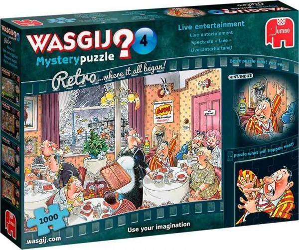Wasgij Retro Mystery 4: Live Unterhaltung! (1000 Teile)