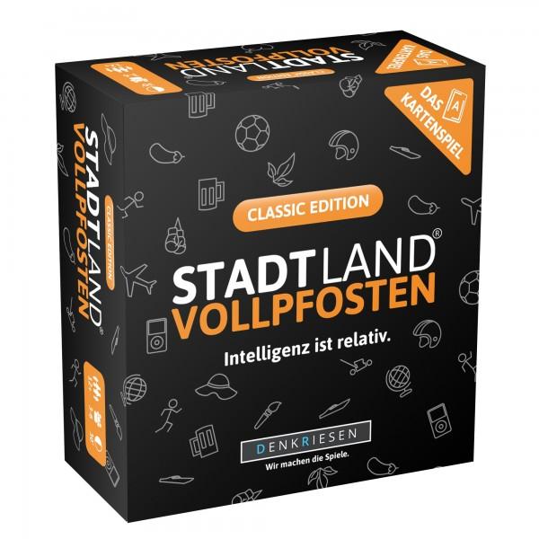 STADT LAND VOLLPFOSTEN: Das Kartenspiel – Classic Edition