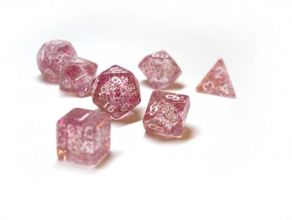 Würfelset Confetti: Pink (7)