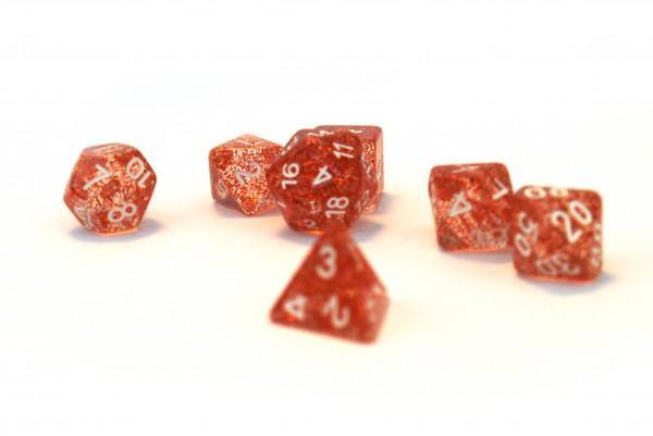 Würfelset Confetti: Red (7)