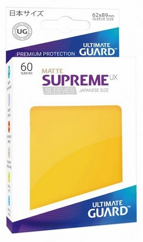 Supreme UX Sleeves Japanese Matte - Yellow (60)