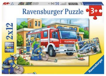 Puzzle: Polizei und Feuerwehr (2x12 Teile)