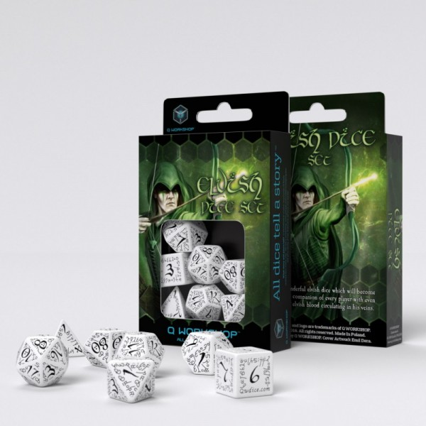 Elvish Dice White/Black (7)