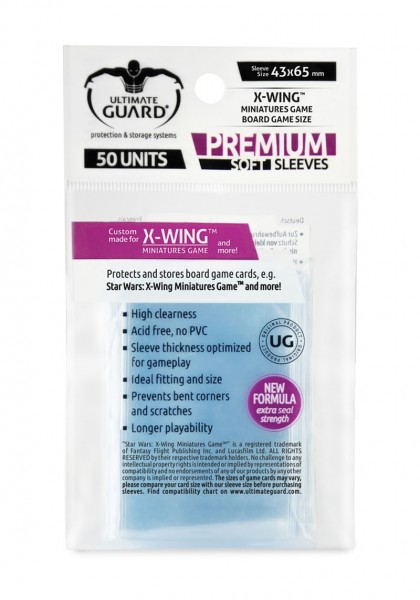 Ultimate Guard: Premium Sleeves X-Wing - Clear (50)